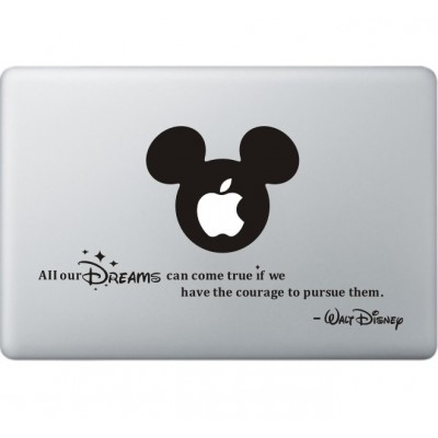All Your Dreams - Walt Disney MacBook  Aufkleber Schwarz MacBook Aufkleber