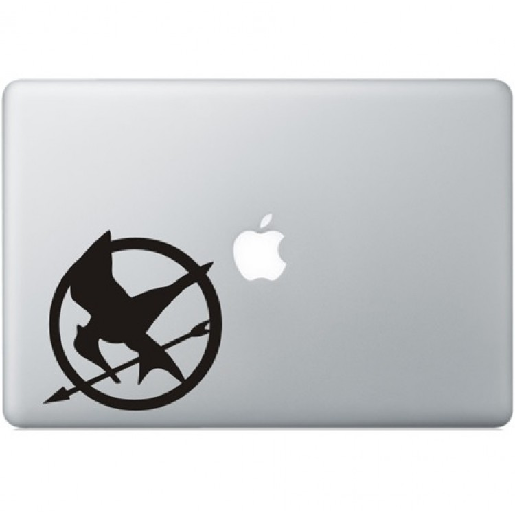 The Hunger Games Macbook Aufkleber Schwarz MacBook Aufkleber