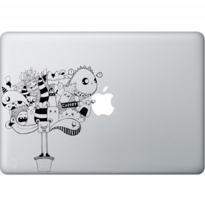 Lockmittel Macbook Aufkleber