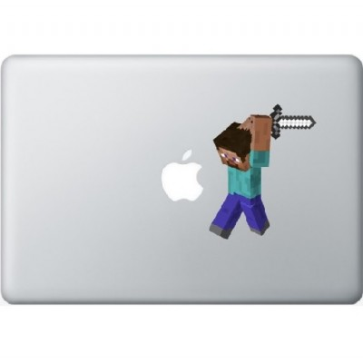 Minecraft Man Macbook Aufkleber