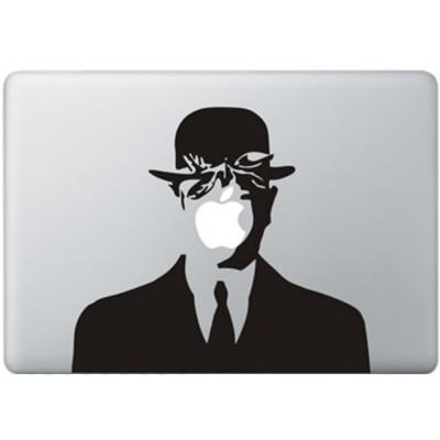 Magritte MacBook Aufkleber Schwarz MacBook Aufkleber