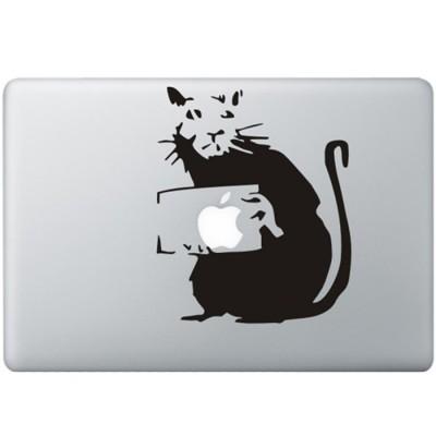 Banksy Ratte MacBook Aufkleber Schwarz MacBook Aufkleber
