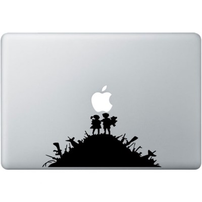 Banksy Kids MacBook Sticker Schwarz MacBook Aufkleber