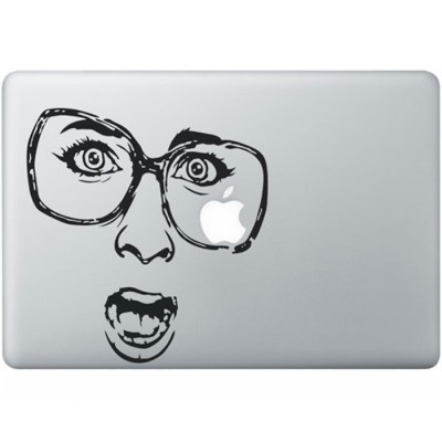 Shocked MacBook Sticker Schwarz MacBook Aufkleber