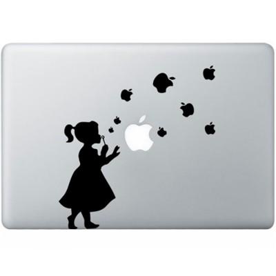 Bläst Blasen Mädchen MacBook  Aufkleber