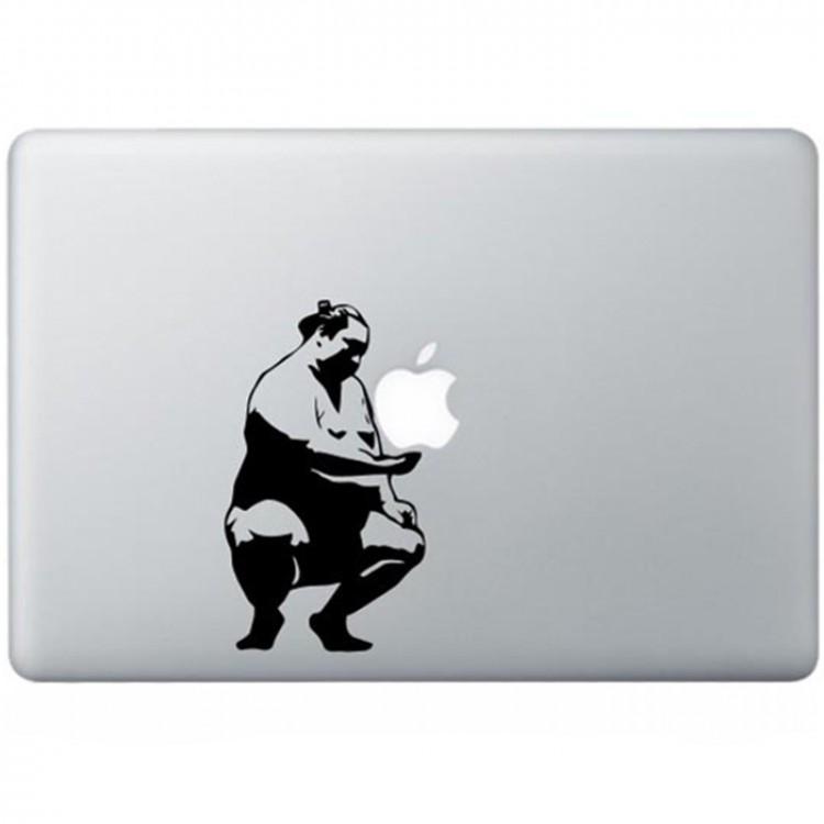 Sumo Worstelaar MacBook Sticker Schwarz MacBook Aufkleber
