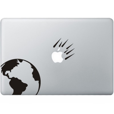 Asteroids MacBook Aufkleber