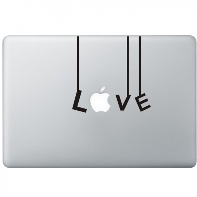 Love (2) MacBook Aufkleber Schwarz MacBook Aufkleber