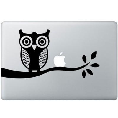 Eule  MacBook  Aufkleber Schwarz MacBook Aufkleber