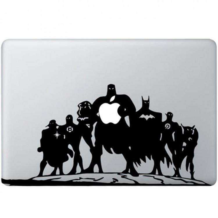 Justice League MacBook Aufkleber Schwarz MacBook Aufkleber