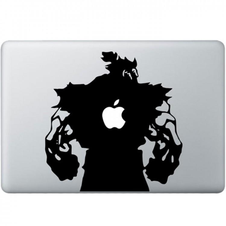 Streetfighter Akuma MacBook Aufkleber Schwarz MacBook Aufkleber