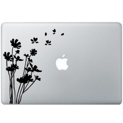 Blumen MacBook Aufkleber Schwarz MacBook Aufkleber