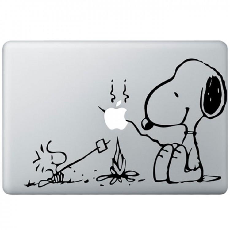 Snoopy MacBook Aufkleber Schwarz MacBook Aufkleber