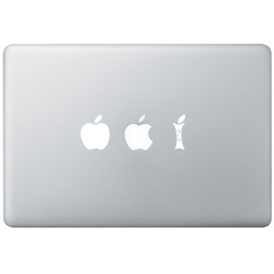 Eating Apple MacBook Aufkleber Schwarz MacBook Aufkleber