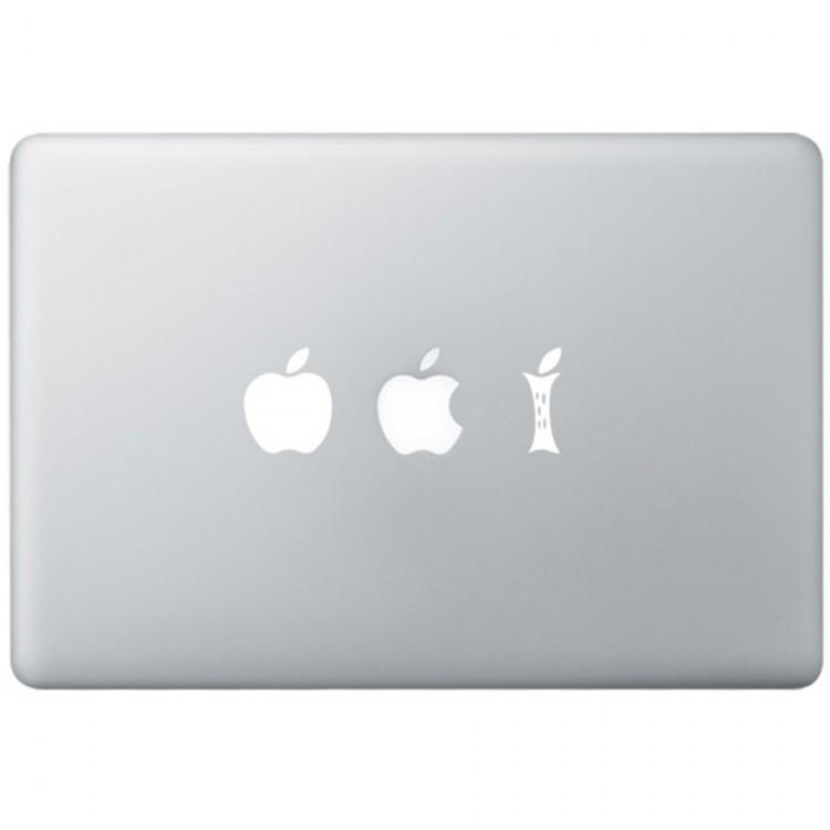 Eating Apple MacBook Aufkleber Schwarz MacBook Aufkleber