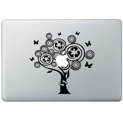 Baum Kuscheltier MacBook Aufkleber Schwarz MacBook Aufkleber