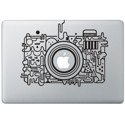 Apple Kamera MacBook Aufkleber Schwarz MacBook Aufkleber
