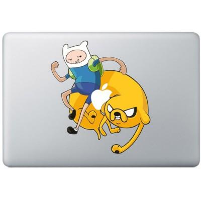 Abenteuer Zeit farbig MacBook Aufkleber