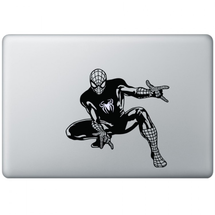 Spiderman MacBook Aufkleber Schwarz MacBook Aufkleber
