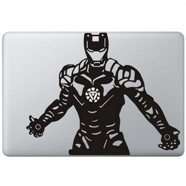 Iron Man (4) MacBook Aufkleber Schwarz MacBook Aufkleber
