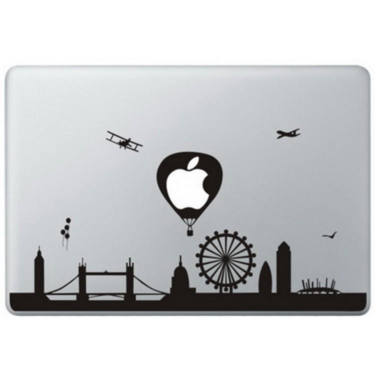 London Landmarks MacBook Aufkleber Schwarz MacBook Aufkleber