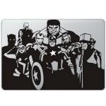The Avengers (2) MacBook  Aufkleber Schwarz MacBook Aufkleber