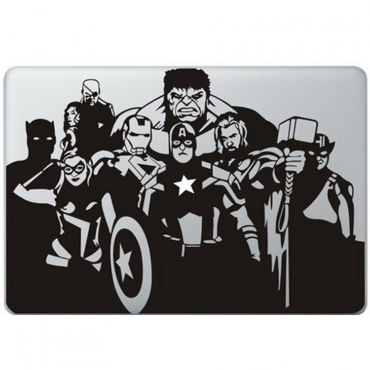 The Avengers MacBook  Aufkleber Schwarz MacBook Aufkleber