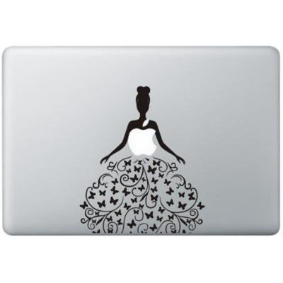 Schmetterling Kleid  MacBook Aufkleber Schwarz MacBook Aufkleber
