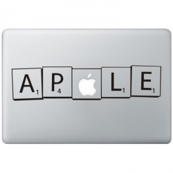 Scrabble MacBook Aufkleber