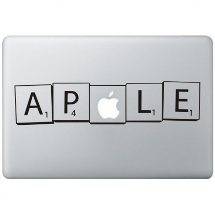 Scrabble MacBook Aufkleber Schwarz MacBook Aufkleber