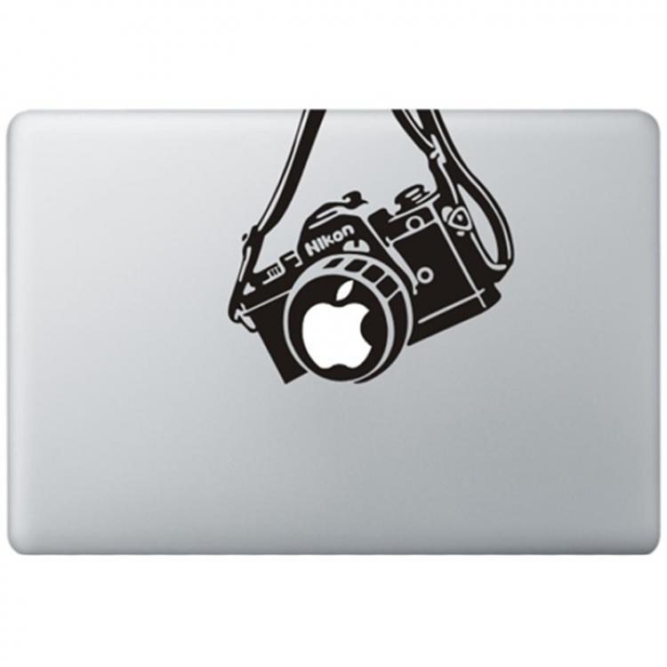 Nikon Vintage Kamera MacBook Aufkleber Schwarz MacBook Aufkleber
