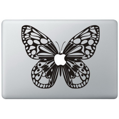 Schmetterling Macbook Aufkleber Schwarz MacBook Aufkleber