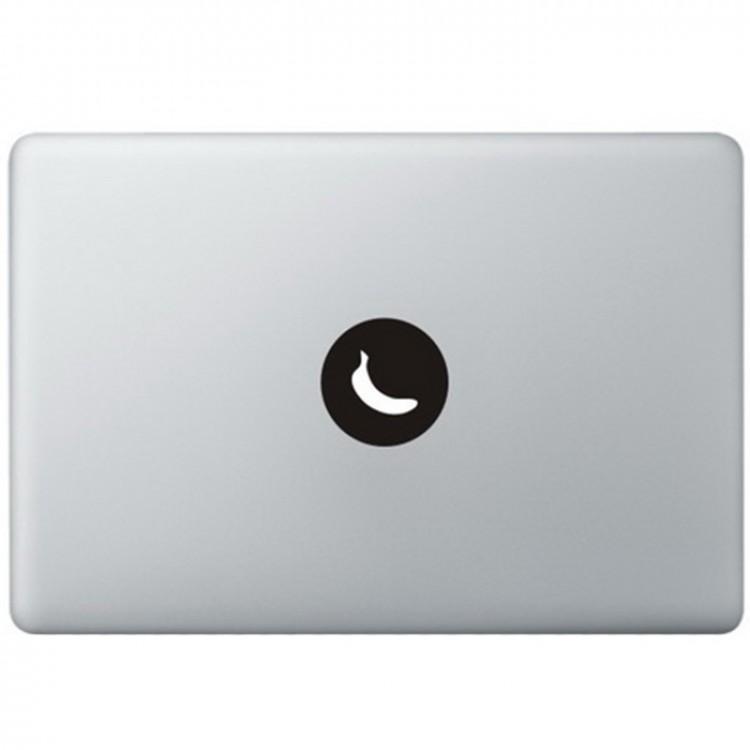 Banane Logo MacBook Aufkleber Schwarz MacBook Aufkleber