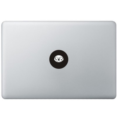 Adventure Time Logo MacBook Sticker Schwarz MacBook Aufkleber