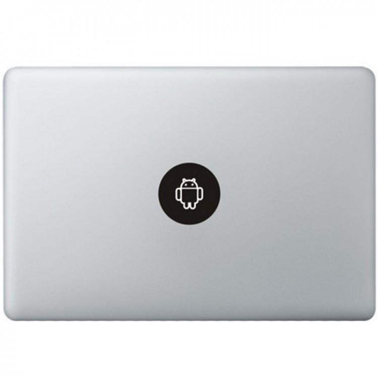 Android Logo MacBook Aufkleber Schwarz MacBook Aufkleber