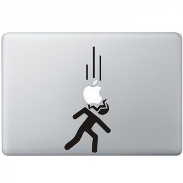 Fallenden Äpfel MacBook Aufkleber Schwarz MacBook Aufkleber
