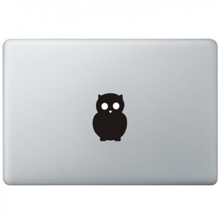Eule Logo MacBook  Aufkleber Schwarz MacBook Aufkleber