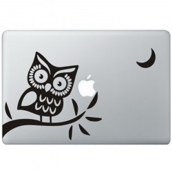 Eule (2) MacBook Aufkleber