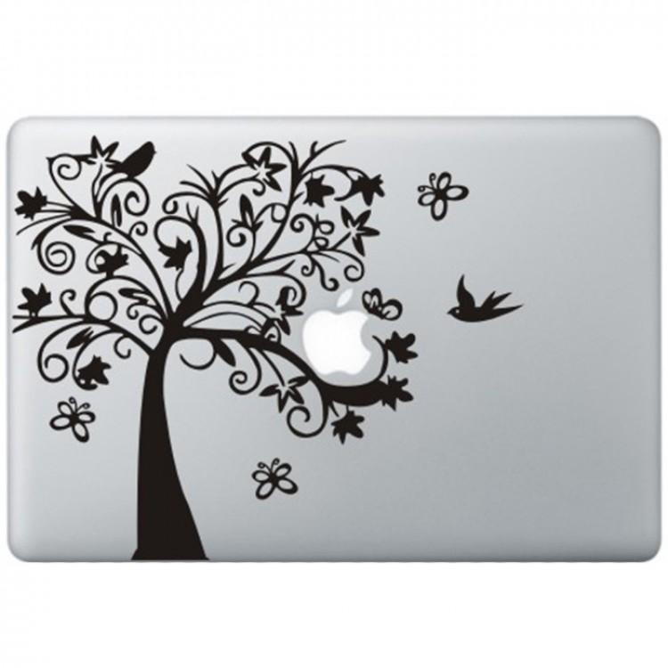 Fantasie Baum MacBook Aufkleber Schwarz MacBook Aufkleber