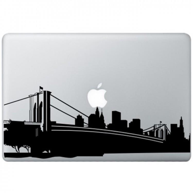 New York MacBook Aufkleber Schwarz MacBook Aufkleber