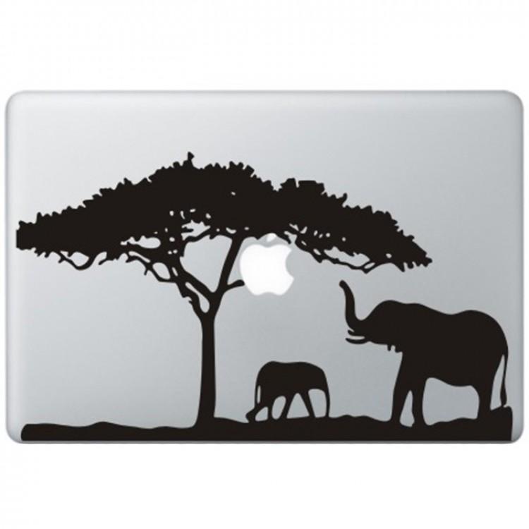Afrika MacBook Aufkleber Schwarz MacBook Aufkleber