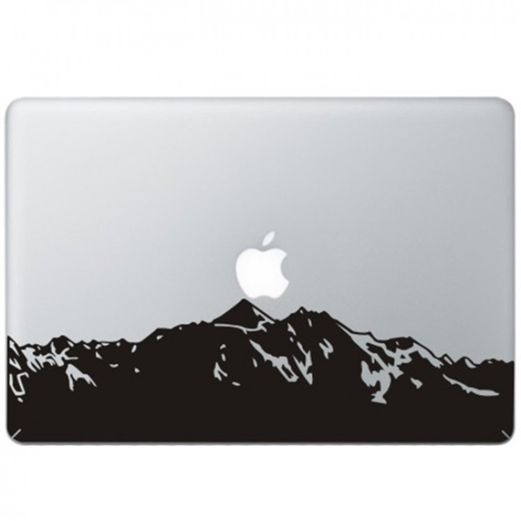 Berge MacBook Aufkleber Schwarz MacBook Aufkleber