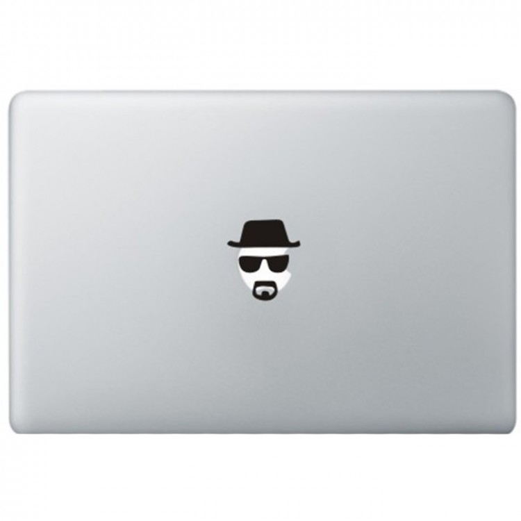 Breaking Bad Heisenberg MacBook Aufkleber Schwarz MacBook Aufkleber