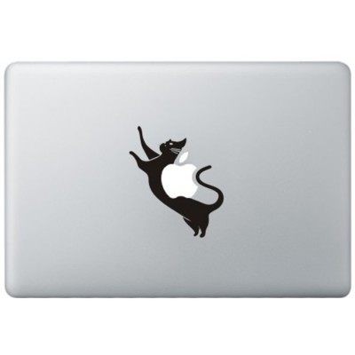 Space Kat MacBook Sticker Schwarz MacBook Aufkleber