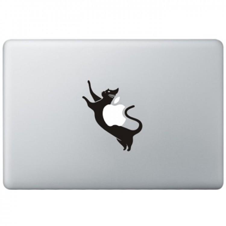 Space Kat MacBook Sticker Schwarz MacBook Aufkleber