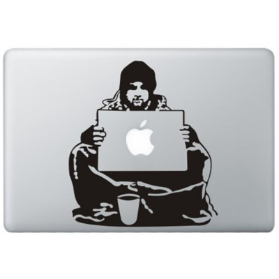 Banksy Bum MacBook  Aufkleber Schwarz MacBook Aufkleber