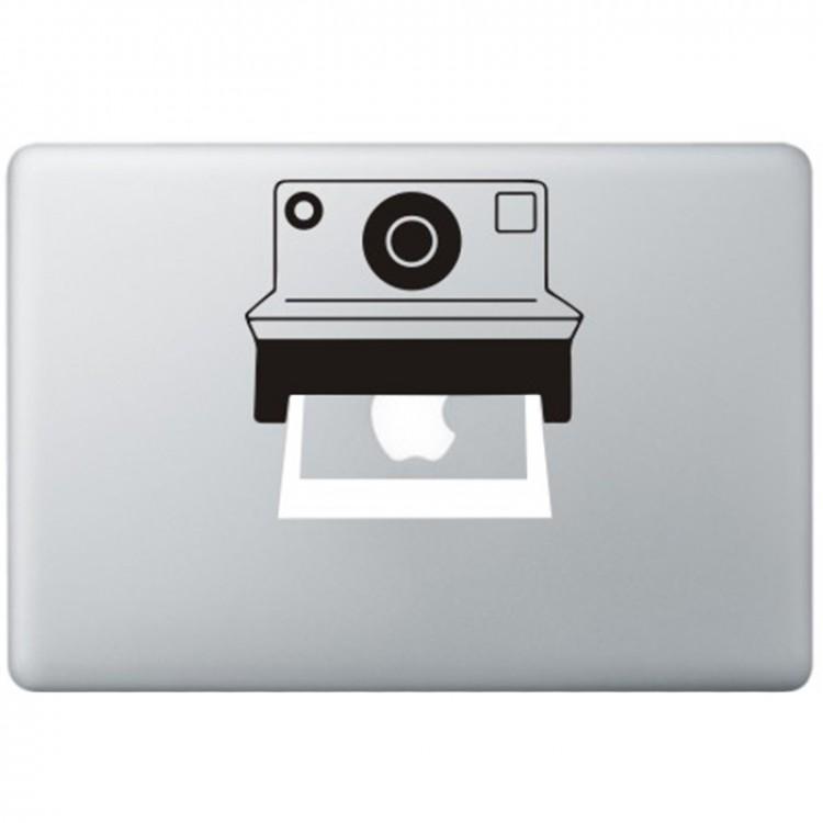 Polaroid Kamera MacBook  Aufkleber Schwarz MacBook Aufkleber