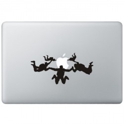 Fallschirm springen MacBook Aufkleber