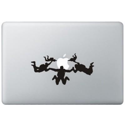 Fallschirm springen MacBook Aufkleber Schwarz MacBook Aufkleber