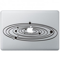 Milky Way MacBook Aufkleber